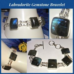 Genuine Labradorite Artisan Vintage Boho Bracelet
